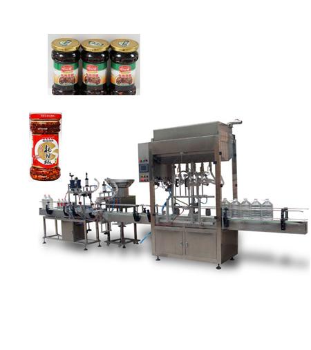 全自动辣椒酱灌装生产线|全自动辣椒酱灌装机